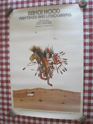 1977 Signed Poster Rance Hood Paintings And Lithographs Stage House Ii Bolder Co