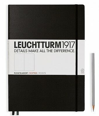 Leuchtturm1917 A4+ Notebook Master Classic Hardcover Black Dotted 327366