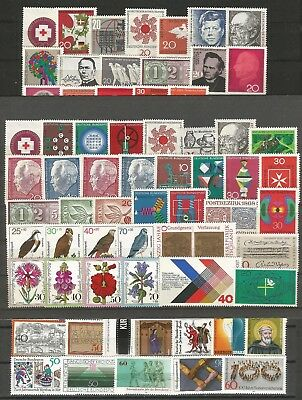 Germany 1960s 1970s 1980s 1990s - Collections Lots MNH German Stamps
