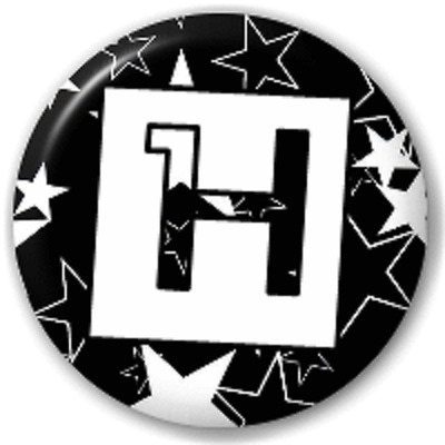 Stars Letter H – 25 Mm Pin Button Badge