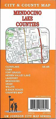 City Street Map of Mendocino Clear Lake, & Lake Counties, California, by GMJ Map