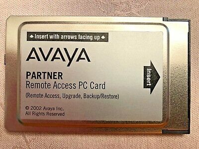 Avaya Partner ACS 12G4 PC Card Remote Access Backup Restore (700252455)