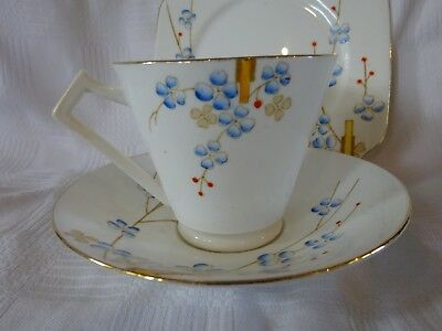 Vintage English Bone China Art Deco Trio