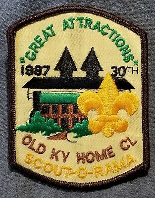 LMH PATCH Badge 1987 SCOUT-O-RAMA Girl Boy Scouts Scout OLD KY HOME Council