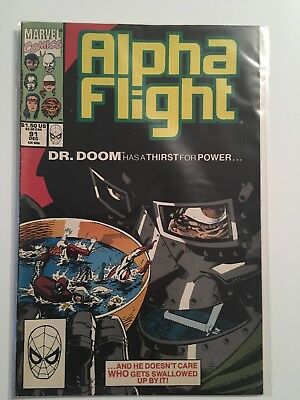Alpha Flight #91 Dec 1990 Marvel VF