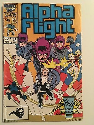 Alpha Flight #43 Feb 1987 Marvel VF