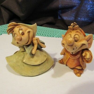 Harmony Kingdom Disney Disneyworld Cinderella Jaq & Suzy Sewing Mouse Mice Rare