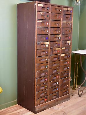 Vintage French drawers from a button shop