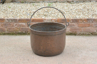 old copper pot vintage antique copper pot cauldron copper cooking- FREE DELIVERY