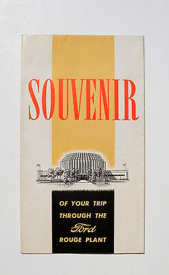 Vintage Brochure ~Souvenir Of Your Trip Through The Ford Rouge Plant 1939