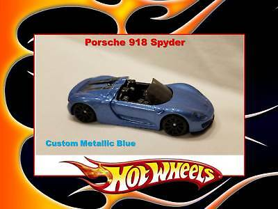 Hot Wheels Custom Metallic Blue Porsche 918 Spyder Limited Edition car