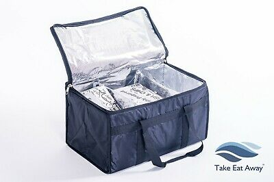 Extra Large Delivery Bag with dividers - Hot Take Away Restaurant Food Bag T20