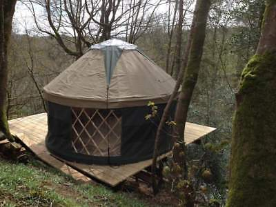 Yurt and deck.  Eco-campsite