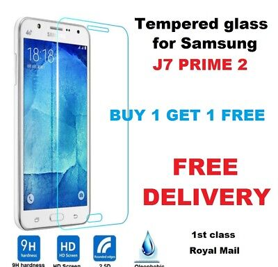 100% Genuine 2 pack Tempered Glass Screen Guard Protector Samsung J7 Prime 2