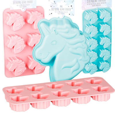 Unicorn Silicone Moulds Cake Cupcakes Muffins Chocolate Jelly Ice Cube Moulds