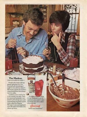 1974 Smirnoff Vodka Advertising Print Ad  Woman And Man Making Cake In Kitchen