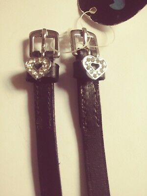 Hy class spur straps with diamante heart decoration