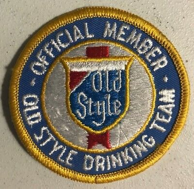 """Old Style Beer Embroidered Patch - """"Official Member - Old Style Drinking Team"""""""