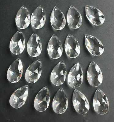 20 Lot Clear Crystal Glass Prism 1.5'' Chandelier Lamp Parts Hanging Teardrop-01