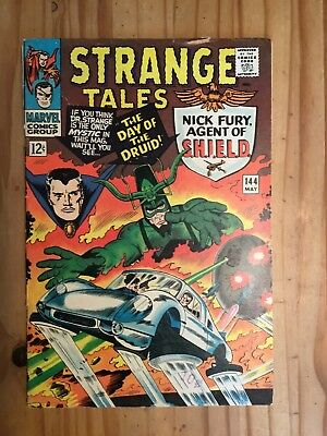 Strange Tales #144  Marvel , Shield and Doctor Strange,1966  Grade VG-