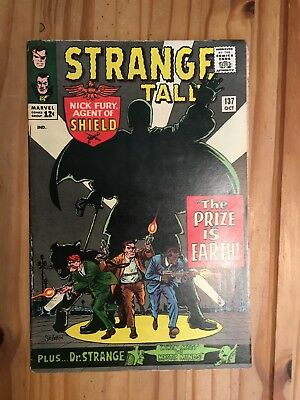 Strange Tales # 137 Marvel , Shield and Doctor Strange, Grade VG-