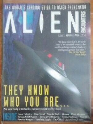 Alien Encounters mag issue 5 1996 ufo paranormal time travel men in black area51