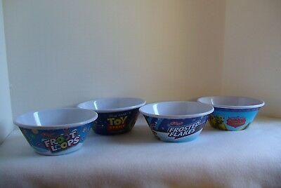 Kellogg's Collectible Bowls - Tony Tiger and Toy Story - Sold in Sets of 4