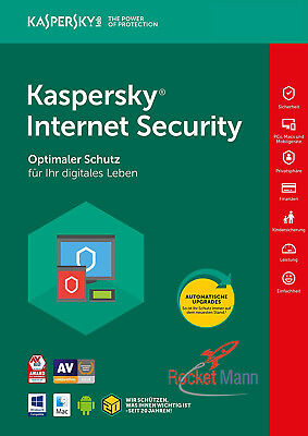 Kaspersky Internet Security 2018 5PC / Geräte 1Jahr Vollversion Lizenz Key