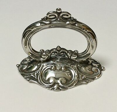 ANTIQUE SILVER PLATE SERVING DISH TUREEN HANDLE FITMENT  Elaborate handle