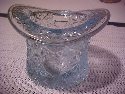 "Vintage 1950's Fenton Large Daisy Button Baby Blue Glass/Vase 3.75""tall"
