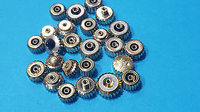 lot of 25 pcs crown swiss made different size for old model size 1.0 & 0.9