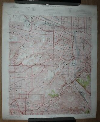 Usgs Topographic Map Central Los Angeles County 1953 37 69