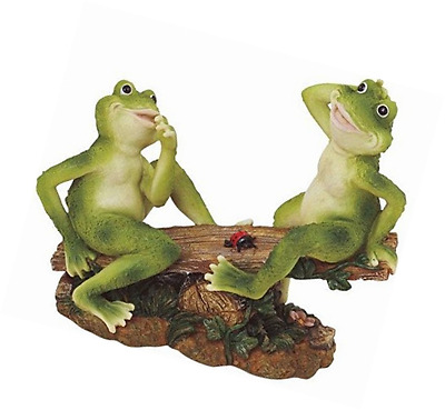 George S. Chen 2 Frogs on Seesaw Garden Decoration Collectible Figurine Statue