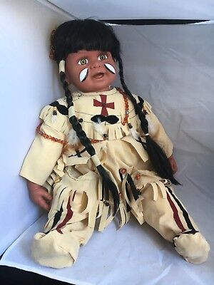 Native Americacn Laughing Warrior Indian Vinyl Baby doll Sweet Dreams Goldenvale