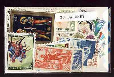 Dahomey 25 stamps different