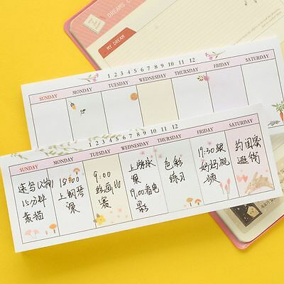 Sticky Notes 40 sheets/lot Self-Adhesive Memo Pad Week Notes Notebook Bookmark