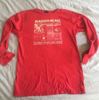Rare RADIOHEAD OFFICIAL LS LONG SLEEVE T SHIRT SIZE L