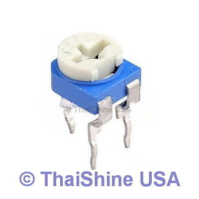 10 x 500K OHM Trimmer Trim Pot Variable Resistor 6mm - USA SELLER Free Shipping