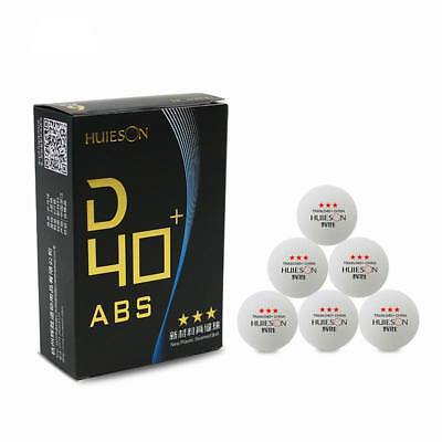 6pcs 3 Star D40+mm New Material ABS Table Tennis Training Balls Ping Pong Ball T