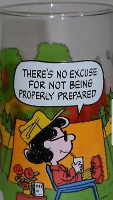 Vintage Snoopy Collection Drinking Glass!! Never Used! Charlie Brown Characters!