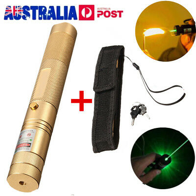 Powerful 532nm Green Laser Pointers Strong Lazer Torch Focus Burning Paper