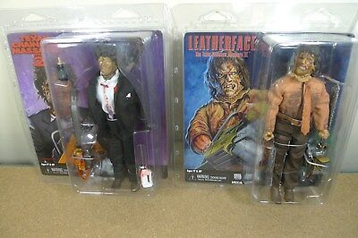NECA TEXAS CHAINSAW MASSACRE 2 & 3 LEATHERFACE Clothed Set of 2 Action Figures