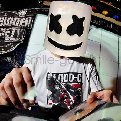 MarshMello DJ Mask Full Head Helmet Prom Party Cosplay Mask Bar Music Props