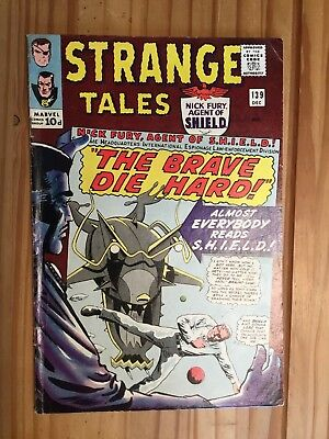 Strange Tales #139  Marvel , Shield and Doctor Strange,1965 Grade VG+