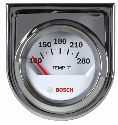 "Bosch 2"" Electrical Water / Oil Temperature Gauge White / Chrome Bezel FST8201"