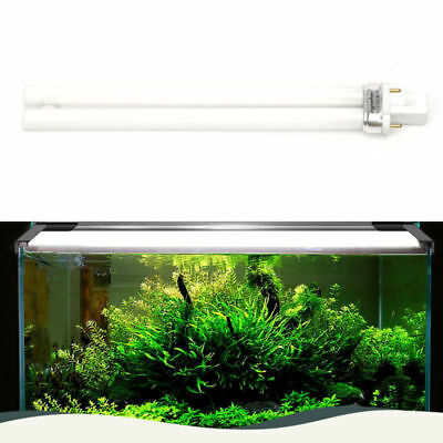 2 Pin Light Bulb Lamp Fish Tank Fish Aquarium Blue & White Twin Tube 11W
