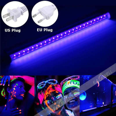 30cm Black Light Bar UV LED 395nm Blacklight Party Club Halloween Decor 110-220V