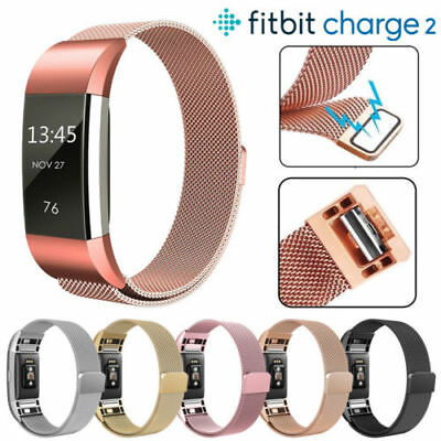 For Fitbit Charge 2 Strap Replacement Milanese Band Stainless Steel Magnet