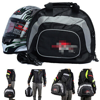 Motorcycle Helmet Bag Motorbike Scooter Helmet Pack Carry Bag Shoulder Bag Black