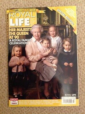 ROYAL LIFE MAGAZINE ISSUE 23 - COLLECTOR'S ISSUE - THE QUEEN AT 90 - new